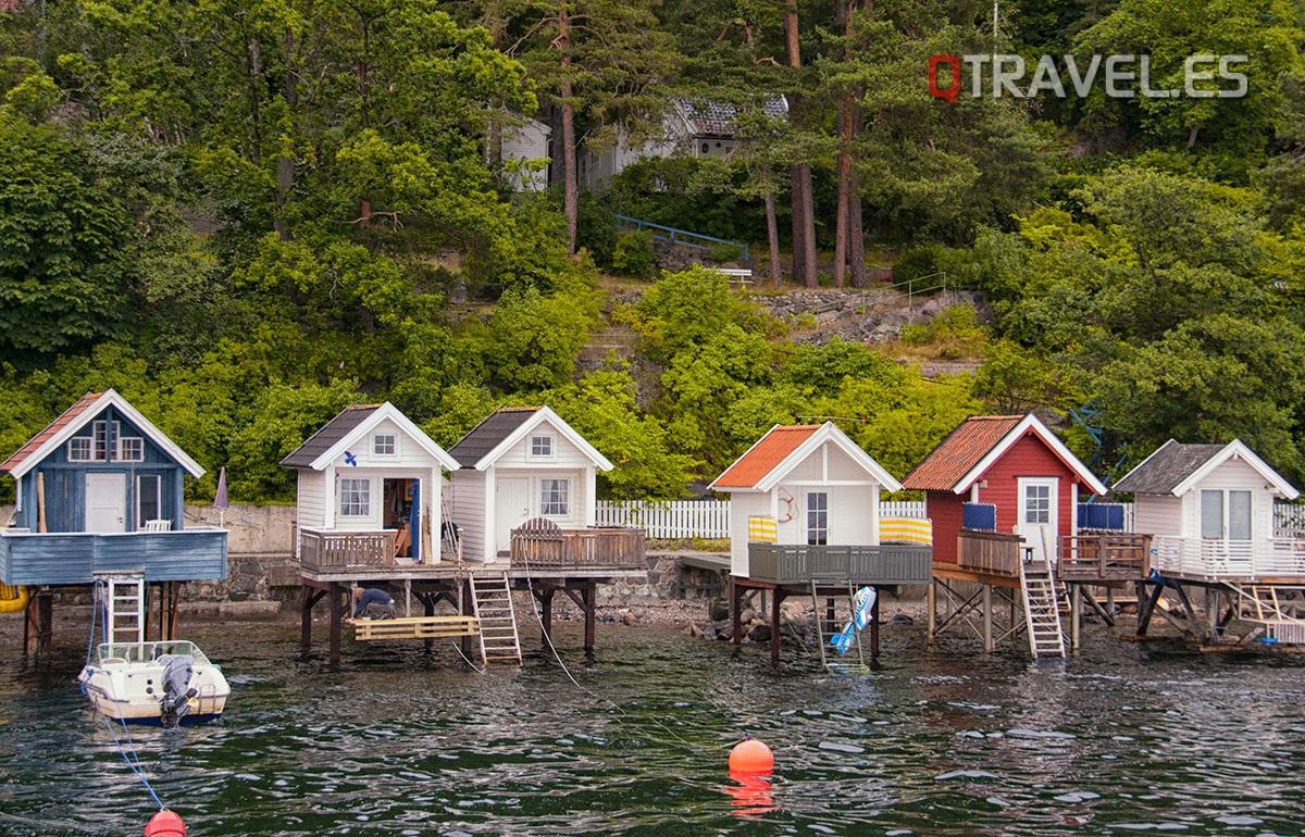 Casitas de pesca y baño del fiordo de Oslo