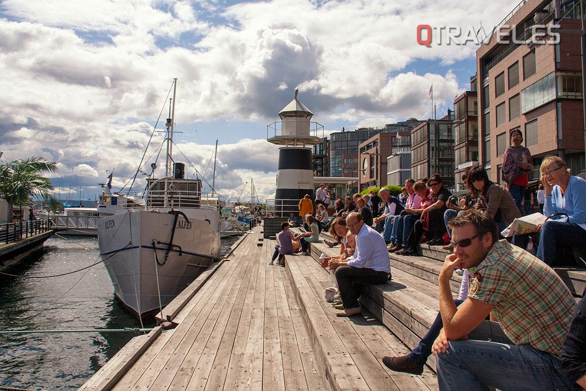 Zona del puerto deportivo de Oslo