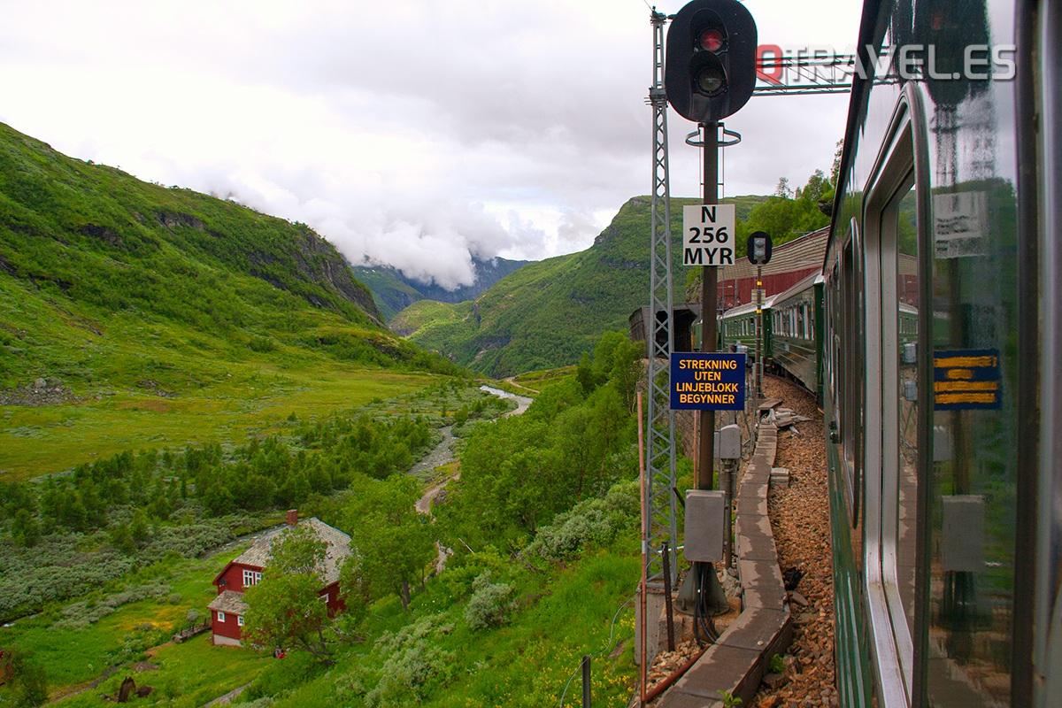 Guía para realizar la ruta Norway in a Nutshell desde Bergen ren en el recorrido de Myrdal a Flam