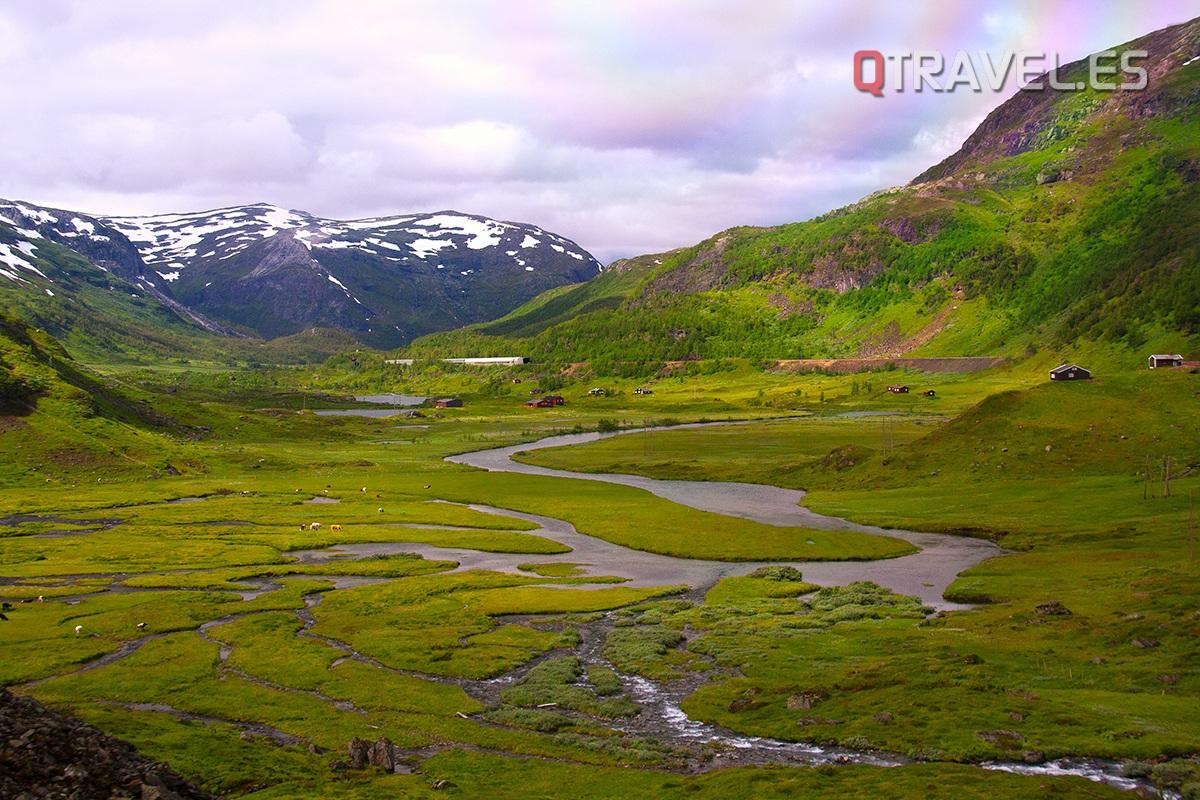Guía para realizar la ruta Norway in a Nutshell desde Bergen Paisaje de Bergen a Myrdal