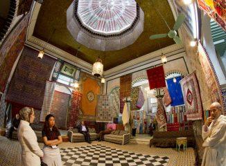 Tienda de alfombras en la median de Tetuán