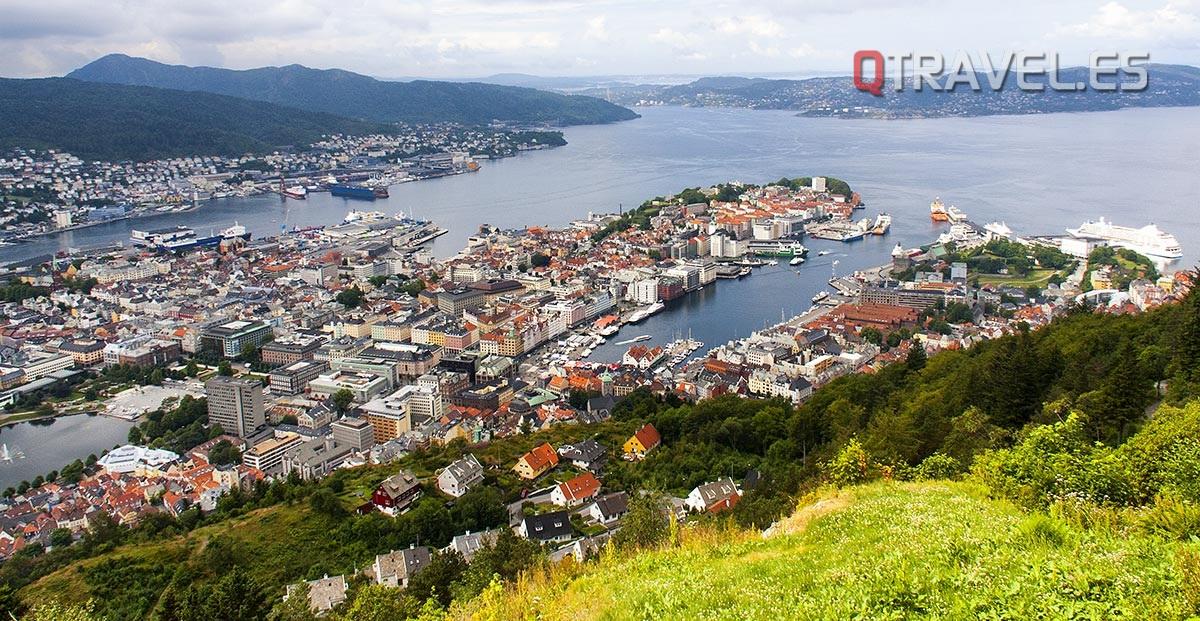 Qué hacer y qué ver en Bergen, disfrutar de la Panorámica de la ciudad de Bergen