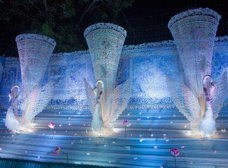 Pandal 41 Pally, representando un palacio de hielo y cristal