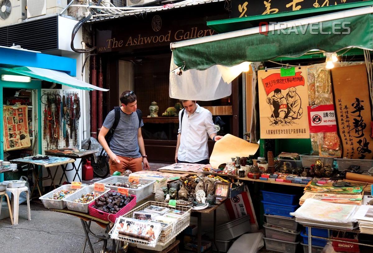 Hong Kong - Mercado de antigüedades en Man Mo