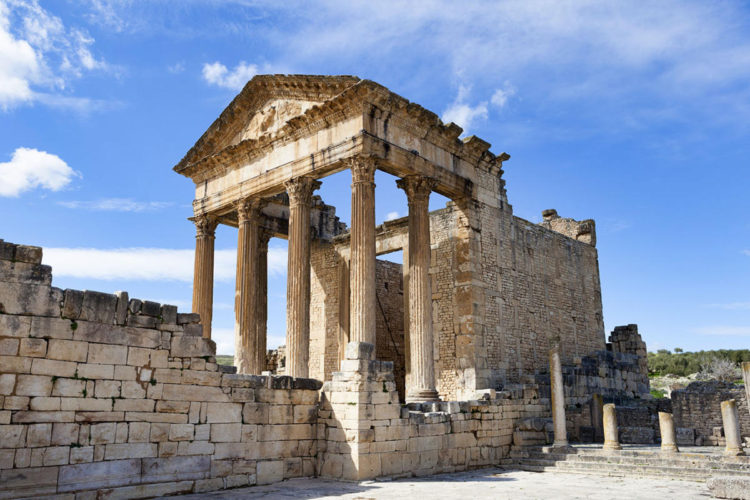 Columnas del Templo de Mercurio junto al Capitolio