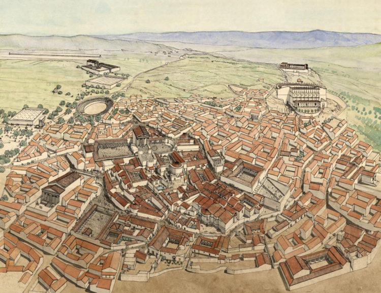 Imagen de la ciudad de Dougga