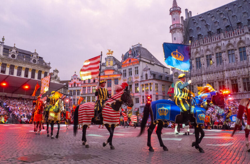Ommegang 2018 recreación histórica Carlos V en Bruselas