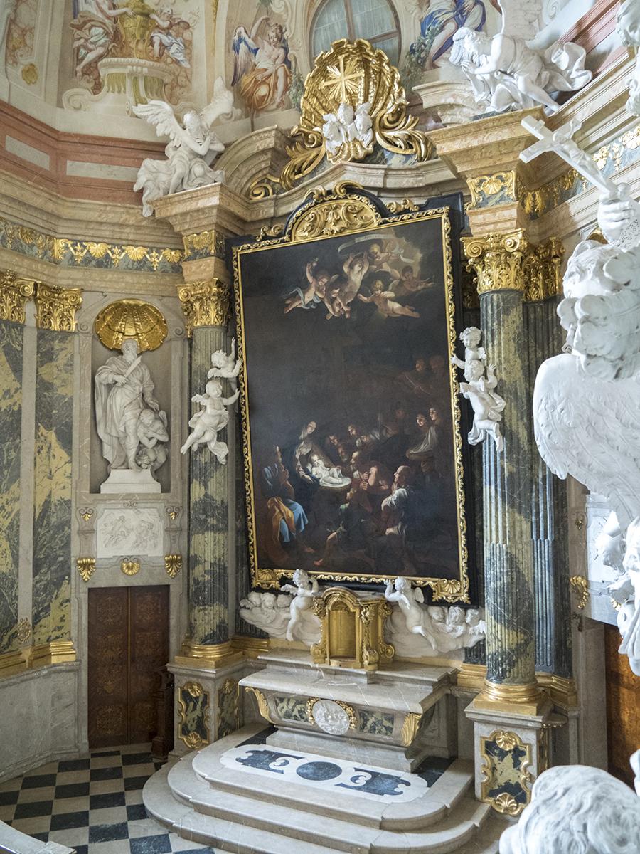 Altar de la capilla del Castillo de Valtice