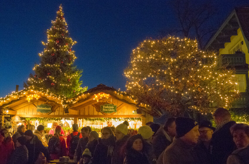 Mercados navideños en el Lago Wolfgangsee en Austria