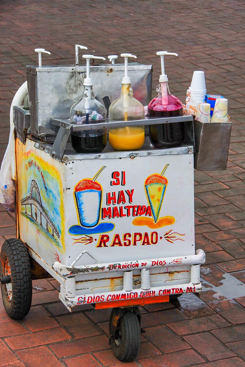 Típico helado panameño el Raspao
